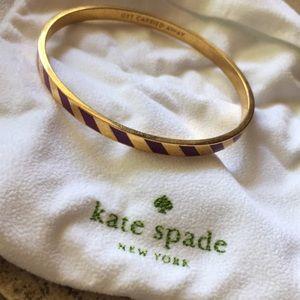 "Kate Spade ""get carried away"" purple gold bangle"